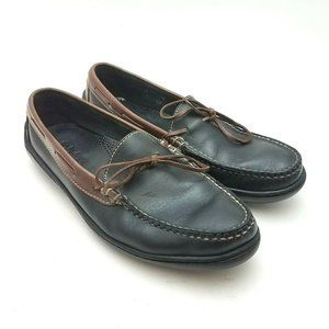 Cole Haan Black/Brown Leather Driving Loafers